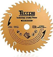 TECCPO Hoja de Sierra Circular TCT de 185 mm x 20 mm, 40 Dientes, Hojas de Madera, Compatibles con Todas las Marcas de Sierras Circulares - TACB22A