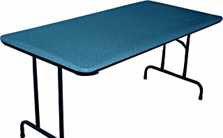 30 x 72 Fitted Picnic and Banquet Table Cover Blue Granite