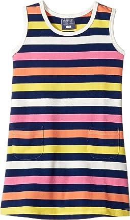 Santa Monica Stripe Dress (Infant/Toddler)