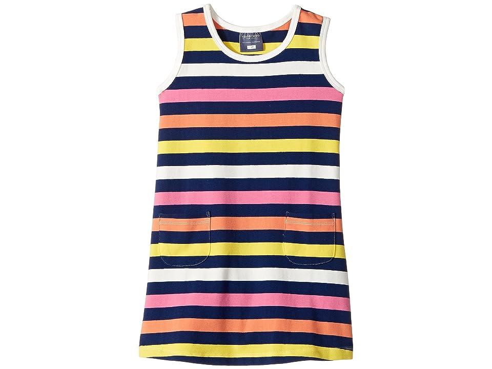 Toobydoo Santa Monica Stripe Dress (Infant/Toddler) (Multi Stripe) Girl