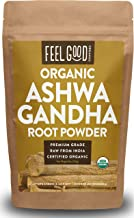 Organic Ashwagandha Root Powder - 8oz Resealable Bag - 100% Raw From India - by Feel Good Organics