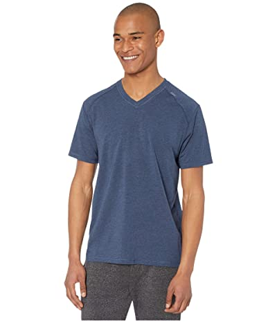 tasc Performance Carrollton V-Neck Tee (Classic Navy Heather) Men