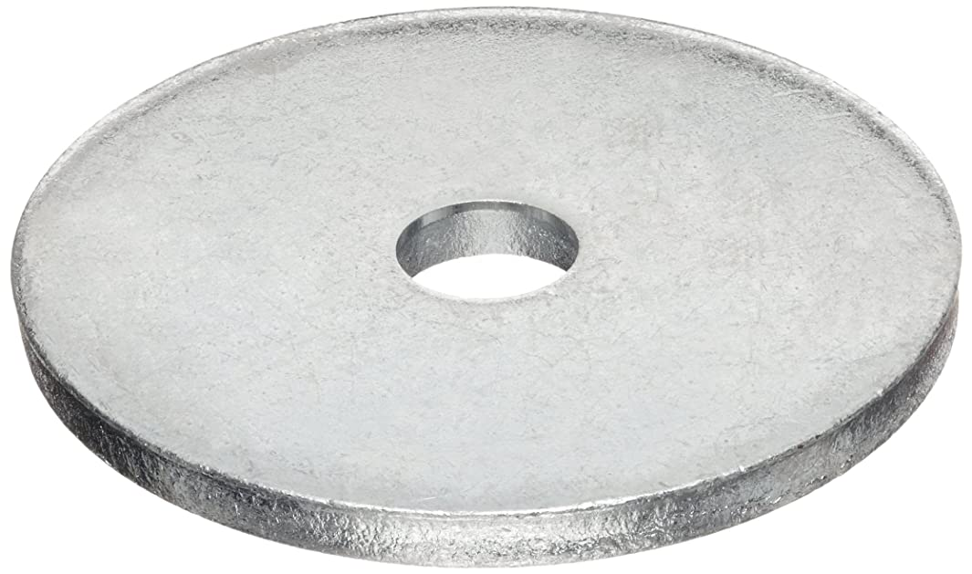 Carbon Steel Flat Washer, #4 Hole Size, 0.688
