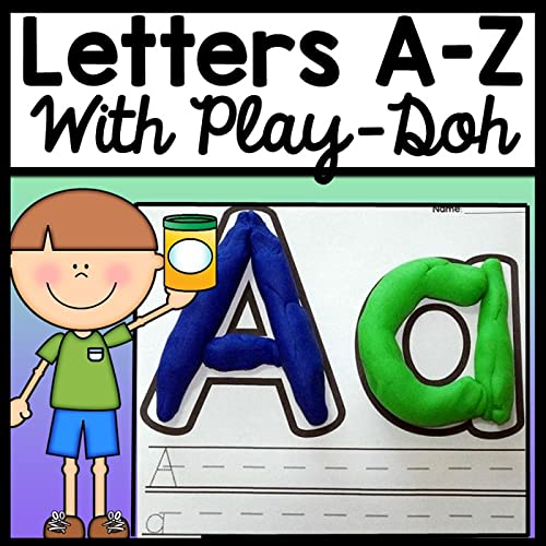 Alphabet Playdough Mats {26 Pages for Letters A-Z!} {Alphabet Worksheets}