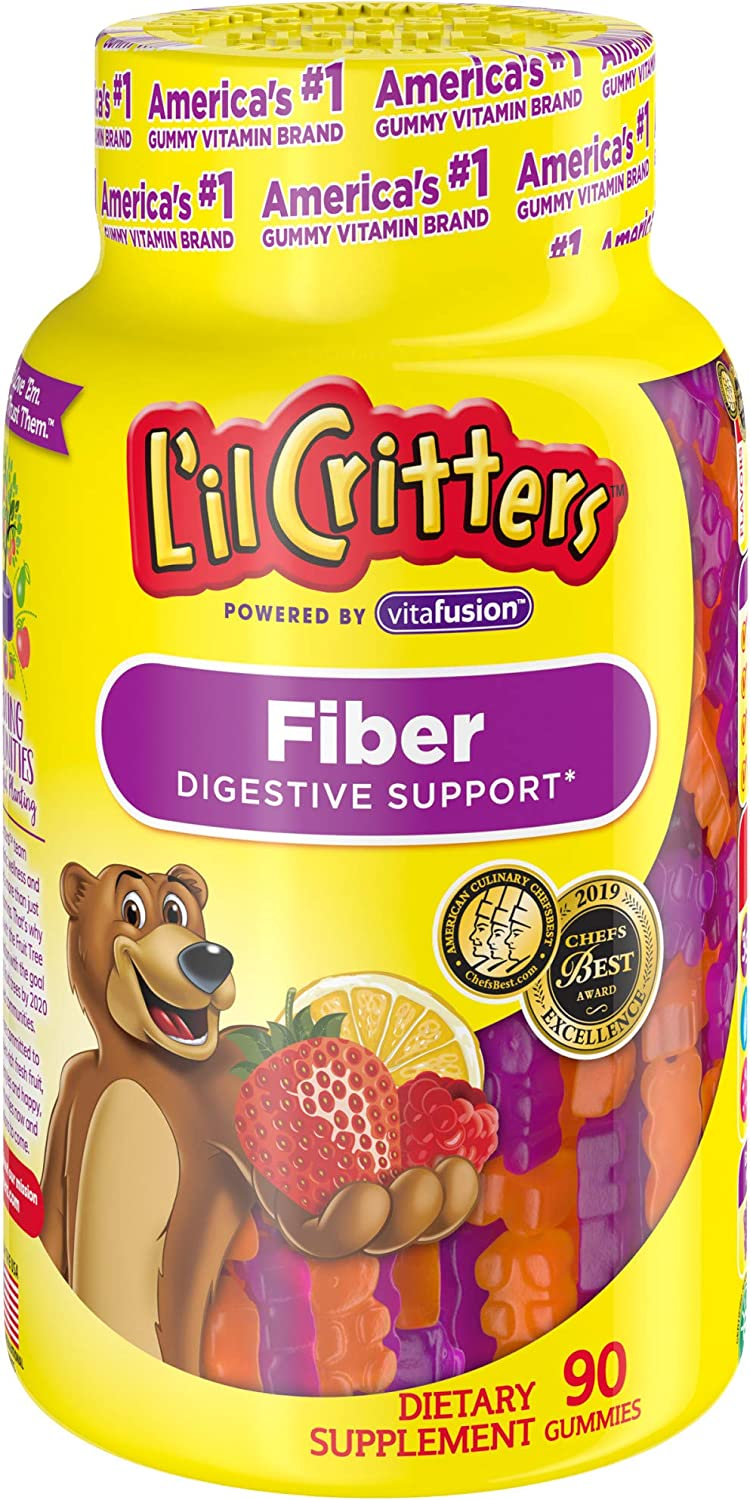 Sale item L'il Critters Kids Year-end annual account Fiber Gummy Count Bears 90 Supplement