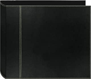 Pioneer 12 Inch by 12 Inch 3-Ring 2-Tone Cover Scrapbook Binder, Black on Black