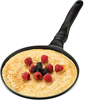 GOURMEX Black Induction Crepe Pan, With PFOA Free Nonstick Coating | Ideal Induction Pan for Egg Omelet and Flat Pancake |...