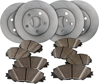 Front and Rear OE Spec Quiet Technology Rotors and Premium Ceramic Pads featuring Triple Layer Wolverine Shims BK30754 | Fits: TT Quattro Golf Jetta