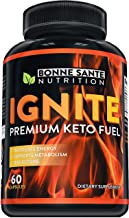 Ignite - Premium Keto Fuel - Advanced Weight Loss for Men and Women - Boost Energy and Metabolism Naturally - Made in The USA - Non-GMO - BHB Salts - 60 Capsules