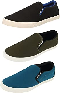 Chevit Men's Combo Pack of 3 Casual (Loafers and Moccasins)