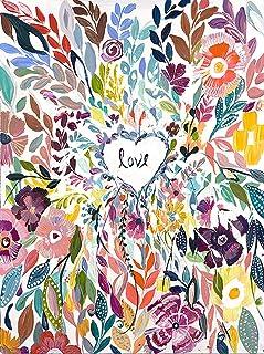DIY Flowers Love Diamond Painting Flowers, Square Full Drill Diamond Painting Kit Flower, 5D Diamond Painting Flowers, Paint by Number Kits Flowers (15.8X19.7 INCH)