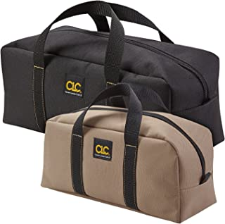 CLC Custom Leathercraft 1107 2 Pack Medium and Large Utility Tote Bag Combo,Black/Beige