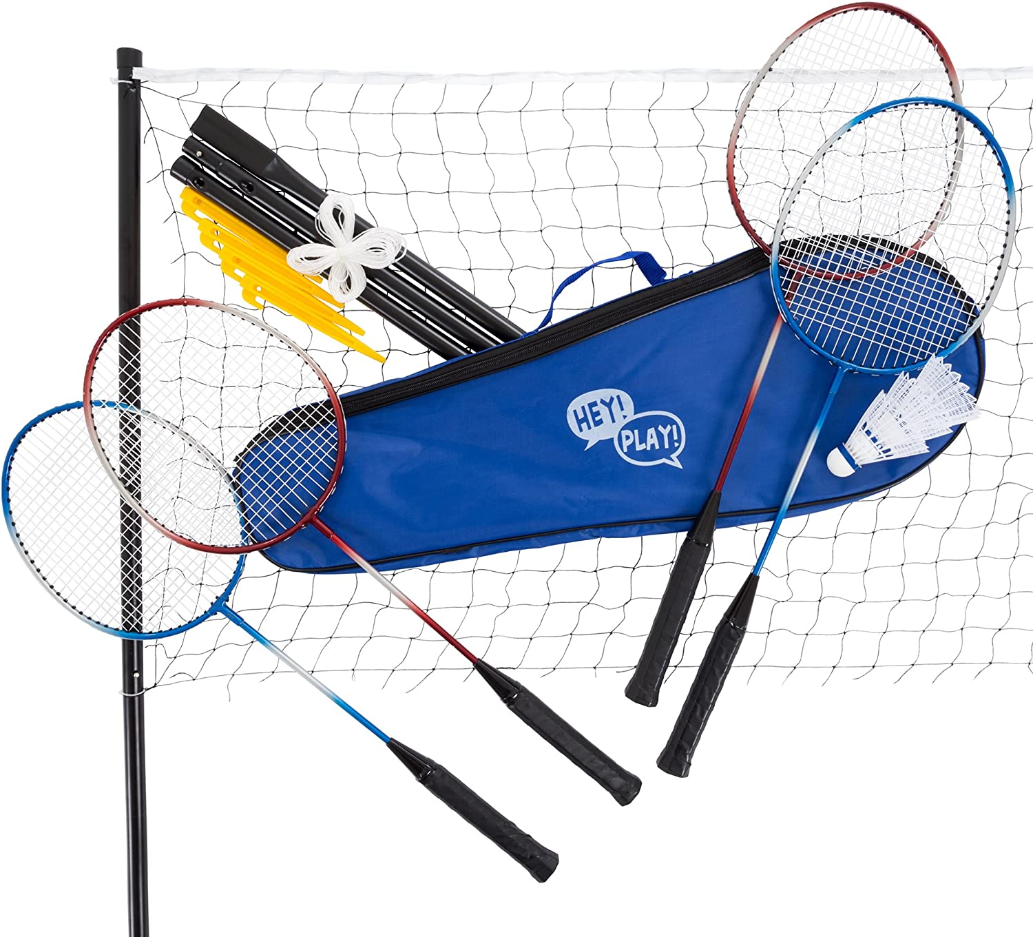 In a popularity Hey Popular shop is the lowest price challenge Play Badminton Set Complete Outdoor Yard Racqu Game 4 with