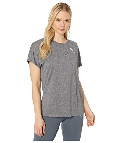 PUMA Active Mesh Heather Tee (Puma Black Heather) Women