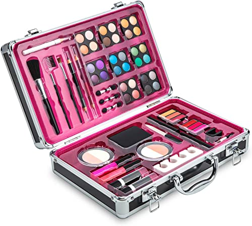 lowest Vokai Makeup Kit Set - 32 Eye Shadows 6 Lip Glosses 2 Lip Gloss Wands 2 lowest Lipsticks 1 Face Powder Duo 1 Blush Powder Duo 1 Mascara - online sale Case with Carrying Handle sale
