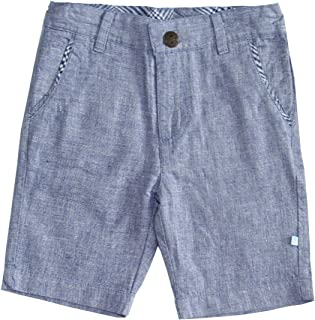 Fore! Axel and Boy Pants L/S Blue Linen Shorts