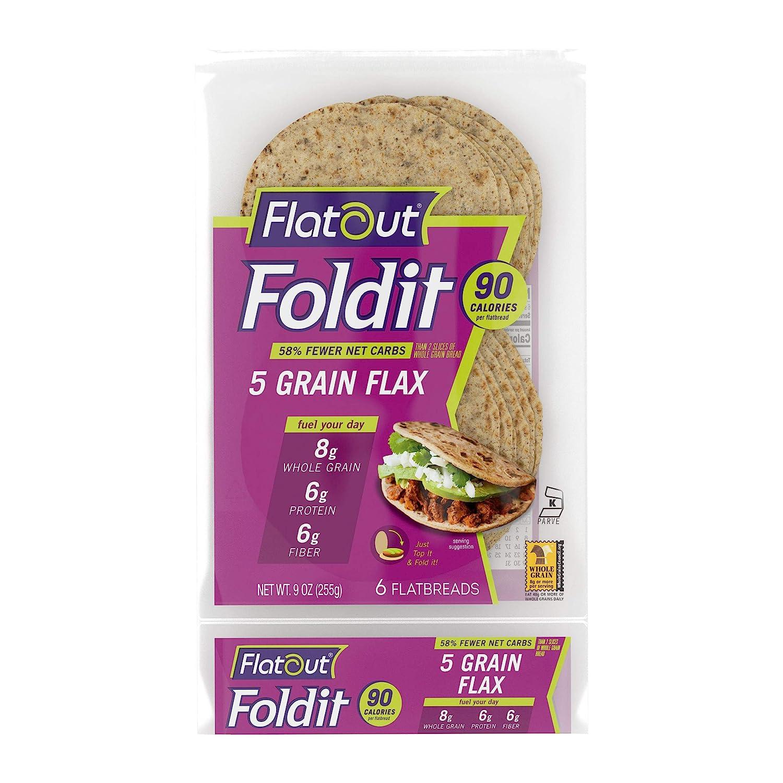 Flatout Foldit Tampa Mall 5-Grain Flax of Dallas Mall Foldits 1 Pack