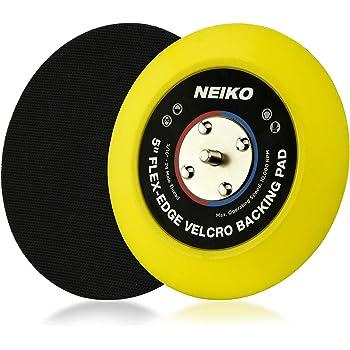 "Neiko 30266A 5"" Hook and Loop PU Backing Pad for DA Sander Polisher Buffer | Flexible Edge 10,000 RPM - 5/16""-24 Thread"