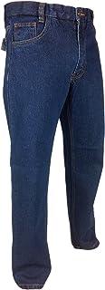 Mens Expand a Band Denim Blue Jeans Waist 32-48 Comfort Regular Fit Self Adjusting Waist Elasticated Sides Short Regular L...