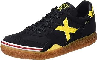 MUNICH - Gresca 606 - Indoor Soccer/Futsal Shoe - Black/Yellow