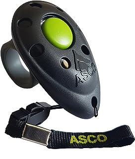ASCO Clicker Professionnel pour Doigt, Entraînement Dressage pour Chiens Chats Chevaux, Finger Clicker de Formation, Noir ...