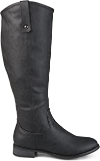 Womens Faux Leather Regular, Wide and Extra Wide Calf Mid-Calf Round Toe Boots