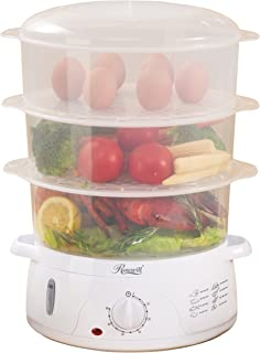 Rosewill Electric Food Steamer 9.5 Quart, Vegetable Steamer with BPA Free 3 Tier..
