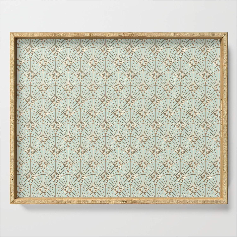 Art Deco Fan Pattern by Kookie Pixel on - Serving x NEW Max 89% OFF Tray 22.5