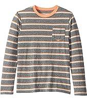 Long Sleeve Peppy Striped Abbott Jersey Pocket Tee (Toddler/Little Kids/Big Kids)