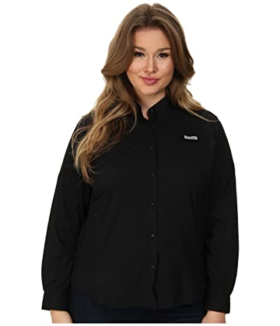 Columbia Plus Size Tamiamitm II L/S Shirt (Black) Women