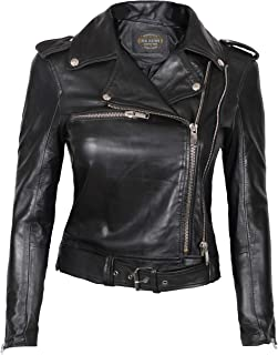 Womens Black Leather Jacket - Genuine Lambskin Chocolate Brown Leather Jackets for Women