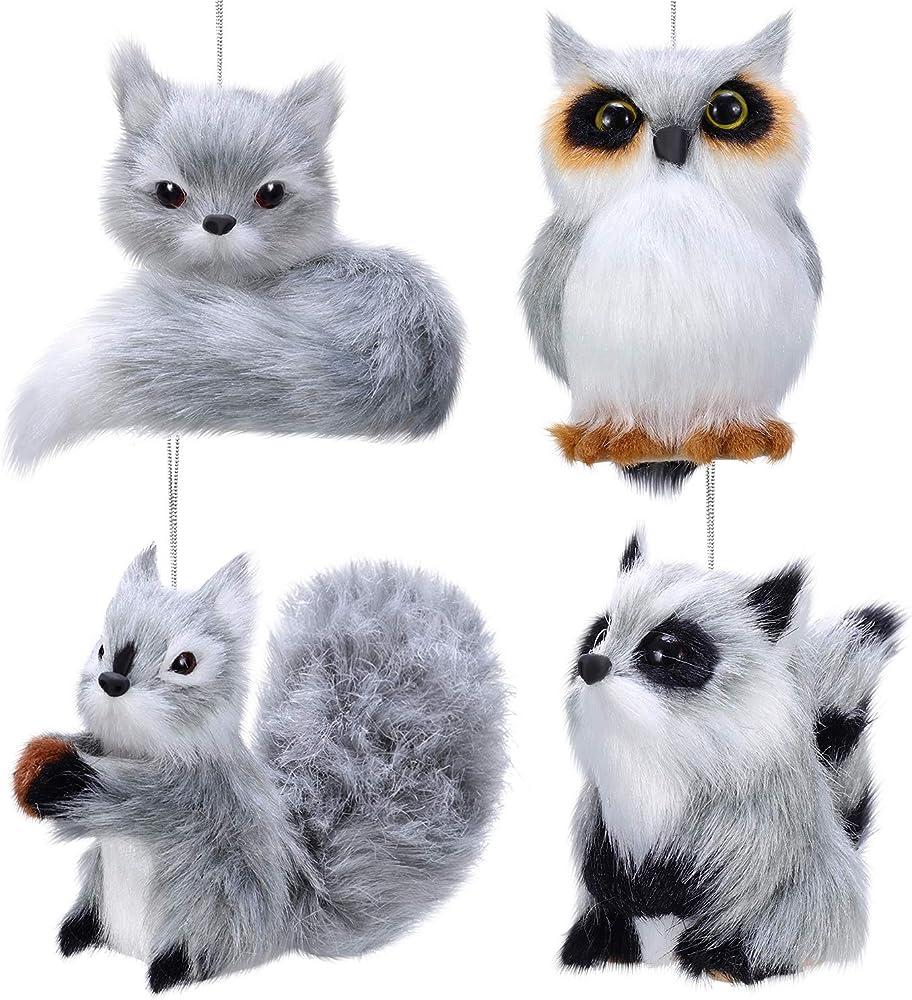 4 pezzi ornamento di natale ornamenti di animali Sumind-Ornaments-5897