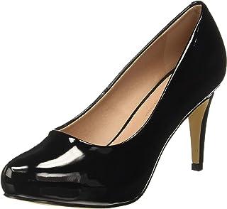 Steve Madden Women's Jelsey Black Patent Fashion Sandals-4.5 UK/India (37 EU) (6.5 US) (882946324781)