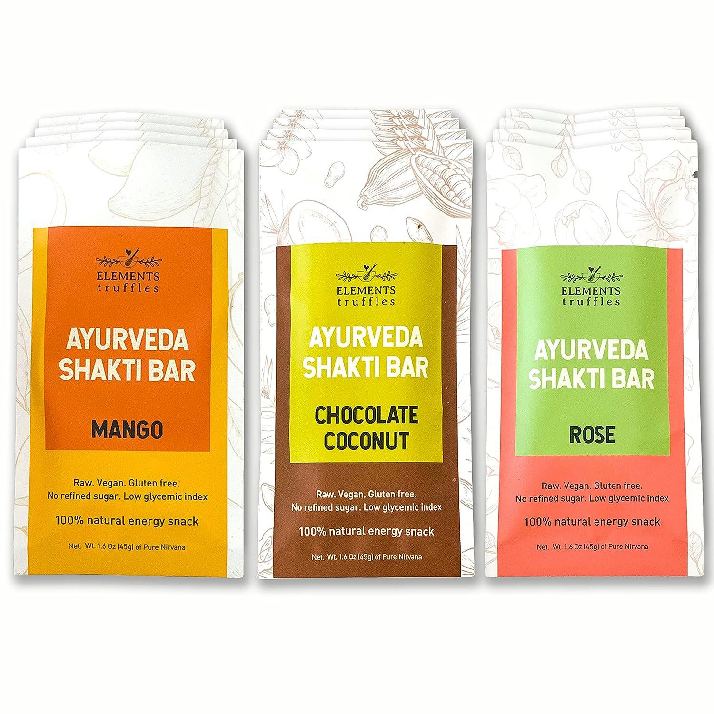 Elements Truffles Ayurveda Shakti New product Bars OFFicial mail order - Vegan Date En Organic
