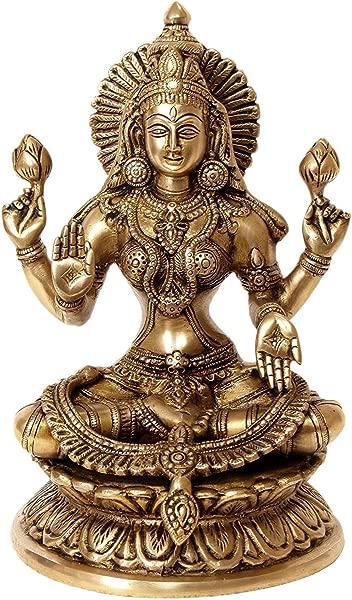 Aone India Large 9 Laxmi Statue Goddess Brass Lakshmi Hindu Idol Religious Metal Gift Home Decor Cash Envelope Pack Of 10