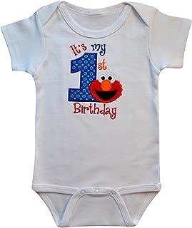 Best elmo 1st birthday onesie Reviews