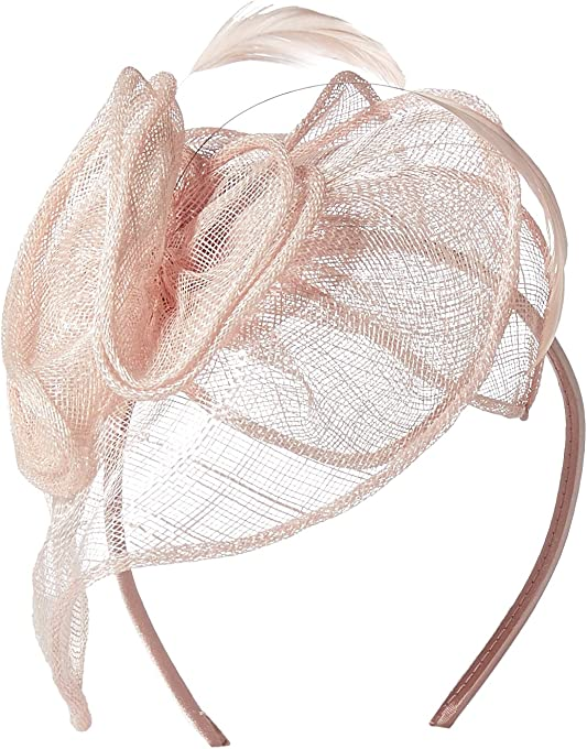 San Diego Hat Company Women's Fasinatior Hat with Rosette and Feathers