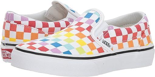 (Checkerboard) Rainbow/True White