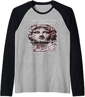 Alexander the great t shirt Living Well Raglan Baseball Tee