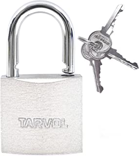 Steel Padlock with Keys (Heavy Duty Security) Safely Lock Interior or Exterior Gates, Sheds, Lockers, Bikes, Tool Box, or ...