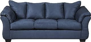 Signature Design by Ashley - Darcy Contemporary Sofa, Blue