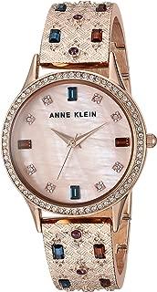 Anne Klein Women's Swarovski Crystal Accented Textured Bangle Watch