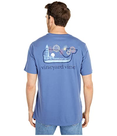 Vineyard Vines 4th Of July Scene Pocket T-Shirt (Moonshine) Men