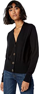 Women's Daniela Boxy V-Neck Fine Jersey Cardigan Sweater