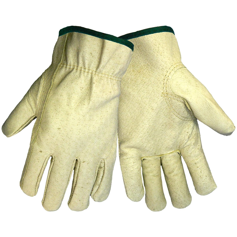 加速する自伝酸Global Glove 3200P Pig Grain Skin Leather Standard Grade Driver Glove, Work, Extra Large (Case of 72) by Global Glove