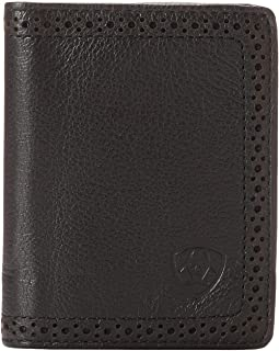 Ariat Shield Perforated Edge Bi-Fold Wallet