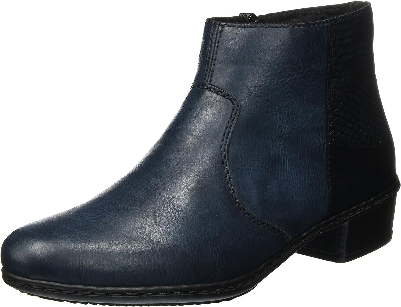 Rieker Womens L. Zipper Boots Navy