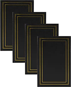 DesignOvation Traditional Photo Album Set of 4, 300, Black