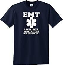 STUFF WITH ATTITUDE EMT Save Lives Navy T Shirt
