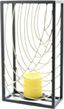 "Metal Candle Holder, Set of 2, Gold/Silver, 8"" x 10"", Silver/Black, 14"" x 7"""